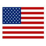 USA flaggavykort