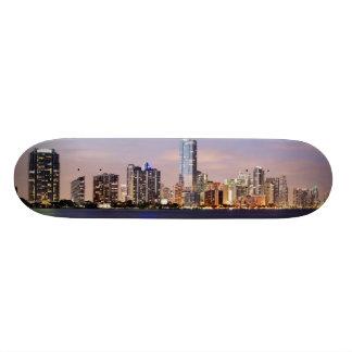 USA Florida, Miami horisont på skymning 2 Skateboard Bräda 20,5 Cm