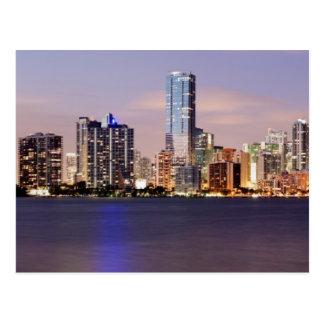 USA Florida, Miami horisont på skymning 2 Vykort