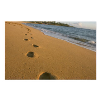 USA Hawaii, Kauai, Kapa'a som är beachfront. Poster