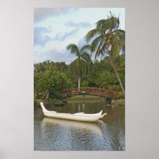 USA Hawaii, Kauai, smedfamiljLuau trädgård Poster