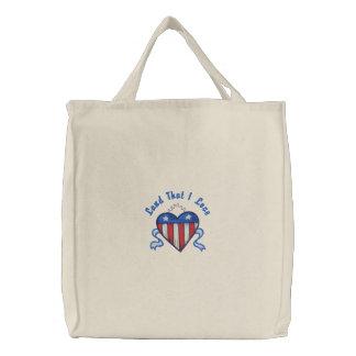 USA hjärtatotot - skräddarsy Tygkasse