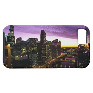 USA IL, Chicago. Chicago horisont och flod iPhone 5 Case-Mate Fodraler