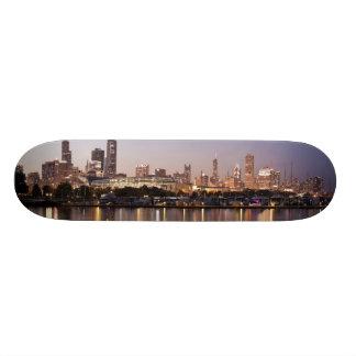 USA Illinois, Chicago horisont på skymningen Skateboard Bräda 20,5 Cm