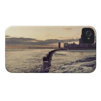USA Illinois, Chicago, horisont på soluppgången iPhone 4 Skydd