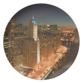 USA Illinois, Chicago: Kretsa: Byggnader Tallrik