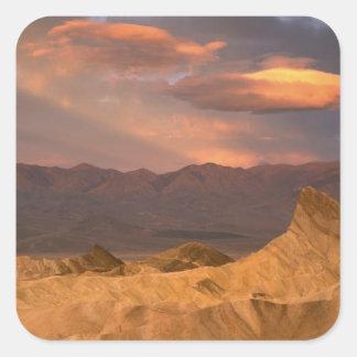 USA Kalifornien, Death Valley nationalpark. 2 Fyrkantigt Klistermärke