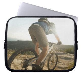 USA Kalifornien, Laguna strand, bergbiker Laptop Fodral