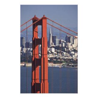USA Kalifornien, San Francisco. Antennen beskådar  Fototryck