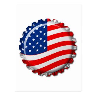 USA kapsyl Vykort