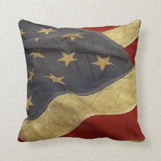 USA kudder den gammala flagga Kudde
