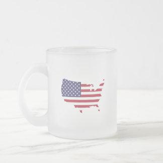 USA löfte. varje morgon…, därför att det matters. Frostad Glas Mugg