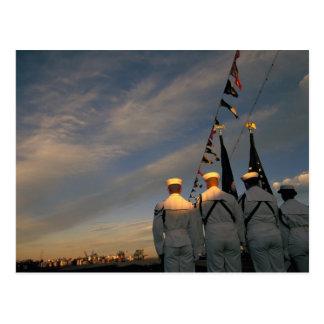 USA Massachusettes, Boston. Us-marinfärg Vykort
