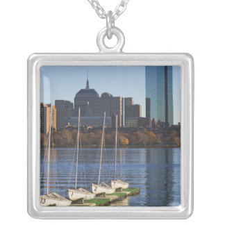 USA Massachusetts, Boston horisont 4 Silverpläterat Halsband