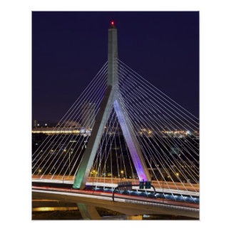 USA Massachusetts, Boston. Leonard Zakim Poster