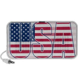 USA med amerikanska flagganhögtalaren Minihögtalare