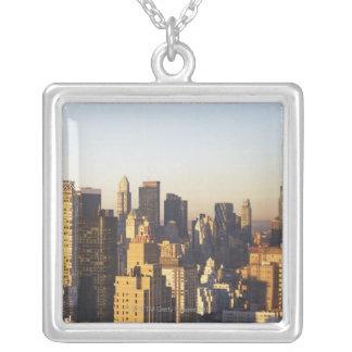 USA New York City, Manhattan horisont 2 Silverpläterat Halsband