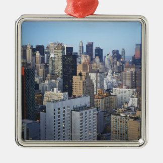 USA New York City, Manhattan horisont Julgransprydnad Metall