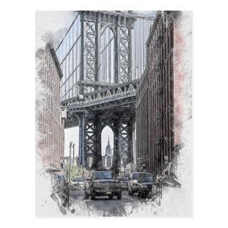 USA New York Manhattan Manhattan överbryggar Vykort