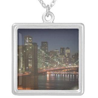 USA New York, New York City, Manhattan: 10 Silverpläterat Halsband