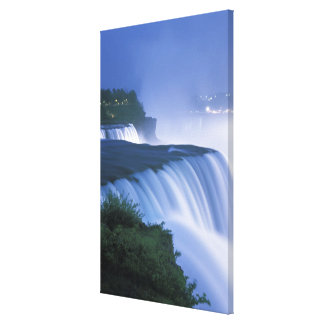 USA New York, Niagara Falls. Amerikannedgångar in Canvastryck