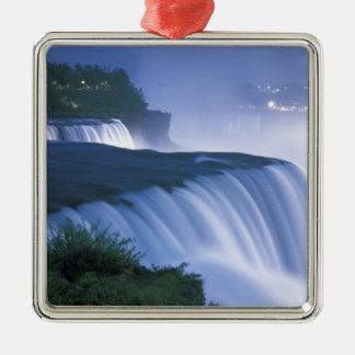 USA New York, Niagara Falls. Amerikannedgångar in Julgransprydnad Metall