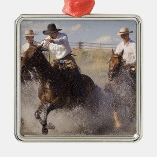 USA Oregon, Seneca, Ponderosa ranch. Cowboys Julgransprydnad Metall