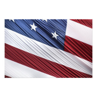 USA patriotisk flagga för röd, vit- och Fototryck