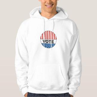 USA-presidentval röstar emblem politisk 2012 Sweatshirt Med Luva