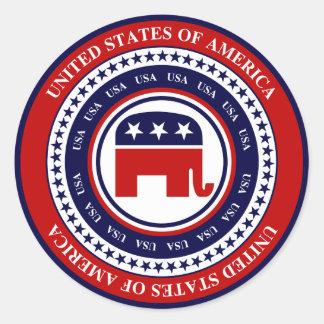 USA republikan Runt Klistermärke