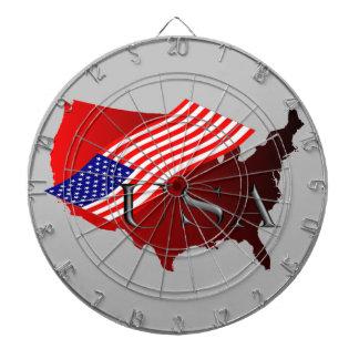 USA röta+ amerik. Flagge Piltavla