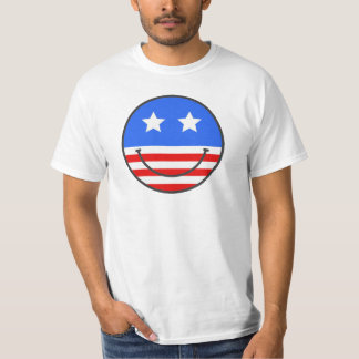USA smiley facever. 2 T Shirts