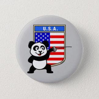 USA som fäktar pandaen Standard Knapp Rund 5.7 Cm