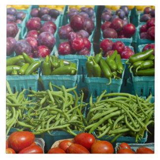 USA, statliga New York, New York, grönsaker och Kakelplatta