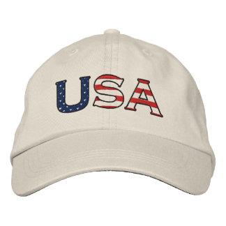 USA stjärnor & randar broderade hatten Kepa