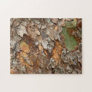 USA Tennessee, tätt upp av skället på ett träd Pussel