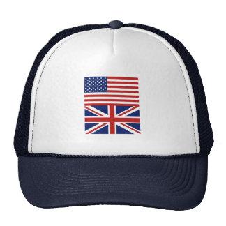 USA & UK-flaggor Mesh Kepsar