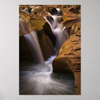 USA Utah, Escalante vildmark. Vattenfall i 2 Poster