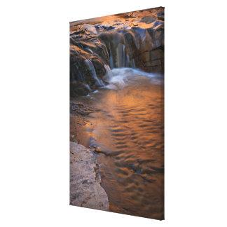 USA Utah, Escalante vildmark. Vattenfall in Canvastryck