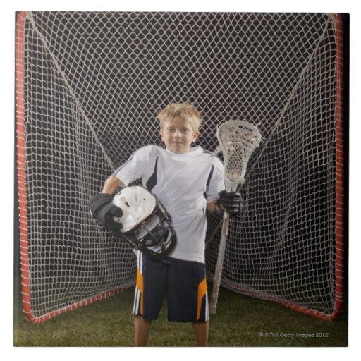 USA Utah, Provo, porträtt av junior (6-7) Kakelplatta Av Kerami