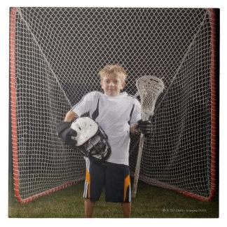 USA Utah, Provo, porträtt av junior (6-7) Kakelplatta