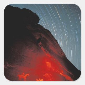 USA Utah, välva sig nationalparken, Petroglyphs Fyrkantigt Klistermärke