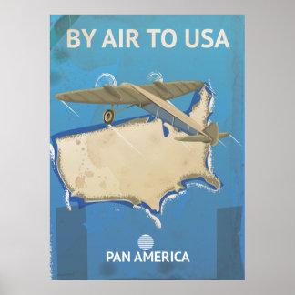 USA vintage resoraffisch Poster