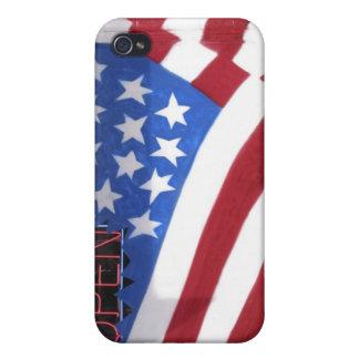 USA Washington, Moses sjö. Flaggaväggväggmålning iPhone 4 Cover