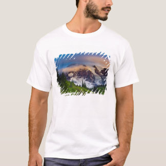 USA Washington, Mount Rainier. Morgonsol T-shirts
