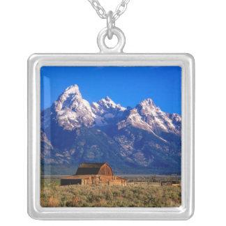 USA Wyoming, storslagen Teton nationalpark, morgon Silverpläterat Halsband
