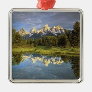 USA Wyoming, storslagen Teton nationalpark. Tusen Julgransprydnad Metall