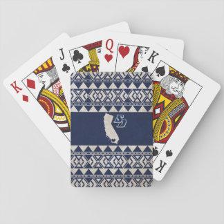 USD | Kalifornien stam- mönster Spel Kort