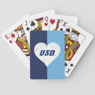 USD vintagehjärta Casinokort