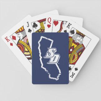 USD | vintageKalifornien statlig logotyp Spelkort